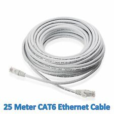 25M 72Ft Meter LAN CAT6 RJ45 CONNECTOR CORD CABLE Ethernet Patch Router Modem