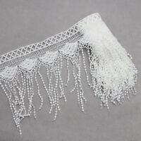 2 Yards DIY Lace Trim Ribbon for Wedding Bridal Dress Applique Sewing Craft