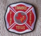 "Commerce Fire Dept Patch - Texas - 4"" x 4"""
