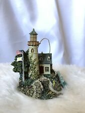 A Light In The Storm Thomas Kinkade Illuminated Lighthouse Ornament Set 1