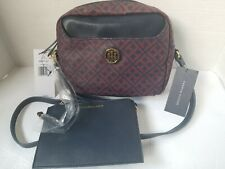 NWT TOMMY HILFIGER Signature Crossbody Adjustable Strap Bag Purse with Pouch