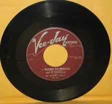 """THE EL DORADOS 45 """"i began to realize/i'll be forever loving you"""" VEEJAY #165"""