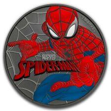 SPIDERMAN Marvel Ruthenium Colorized 1 Oz Silver Coin 1$ Tuvalu 2017