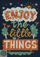"Cross Stitch Kit ~ Design Works ""Enjoy The Little Things"" Room Sign #DW2576"