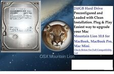 "OS X Mountain Lion 10.8, 2.5"" Hard Drive 250GB.Macbook Pro,Macbook, Mac Mini."