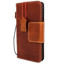 genuine vintage leather Case for apple iPhone 8 Plus book wallet magnet cover uk
