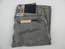 Nudie Jeans Skinny Lin Grey Beam Organic Cotton Jeans Men's sz 28 x 30 New