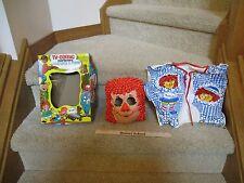 Vtg Halloween Ben Cooper Mask Spook Town costume Raggedy Rag Ann Anne Doll box