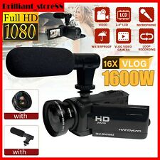 18x Zoom 1080P HD Digital Camcorder Video Camera External Microphone DV Recorder