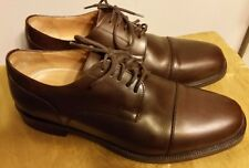 DINO MONTI ALLY Brown Leather  Lace Up Dress Oxford US 11,5 D Made in  Italy