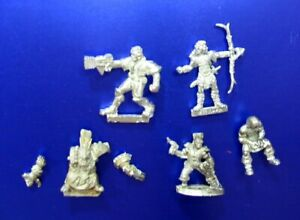 5 Mixed Metal Sci Fi and Fantasy 25mm 28mm Miniatures Minis LOT A
