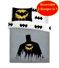 Neuf Officiel Batman Simple Housse Couette Literie Set Enfant Garçons Dc Comics