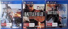 Battlefield 4, Battlefield Hardline and Battlefield 1 PS4  Games
