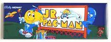 Jr. Pac Man Marquee FRIDGE MAGNET (1.5 x 4.5 inches) arcade video game paceman