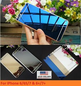 Mirror Front and Back Tempered Glass Screen Protector 9H iPhone 6 7 8 + Plus X