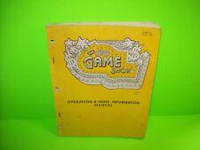 Bally Game Show Original 1990 Pinball Machine Service Parts Manual w/ Schematics
