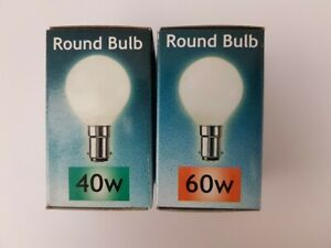 Crompton SBC / BC / SES Round Bulb 40W / 60W Opal - Sold in 10