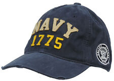Vintage Looking Athletic Military Ball Cap Hat Blue NAVY