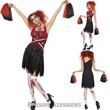 CL949 Zombie Cheerleader High School Girls Sports Dead Horror Halloween Costume