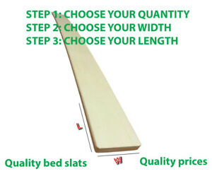 CHEAPEST REPLACEMENT BED SLATS 2FT6 SMALL SINGLE SPRUNG BED SLATS 50MM OR 60MM