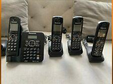 PANASONIC KX-TG6641 Receiver + 4 KX-TGA660 DECT 6.0 PLUS CORDLESS HANDSETS