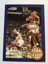 Michael Jordan Chicago Bulls Team Leader 1992-93 Fleer