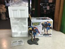 """DC Direct JUSTICE LEAGUE OF AMERICA ED BENES SUPERMAN BLACK CANARY Statue 10"""""""