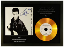 PRINCE 'KISS' SIGNED GOLD DISC DISPLAY