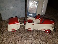 IN BOX KIDDIE CAR CLASSICS 1940 CUSTOM ROADSTER WITH TRAILER