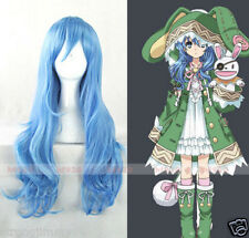 Anime DATE A LIVE Yoshino 70cm Long Blue Cosplay Party Full Wig + free gift