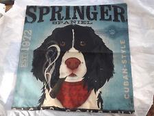 Springer Spaniel Dog Puppy Vintage Cushion Cover t1