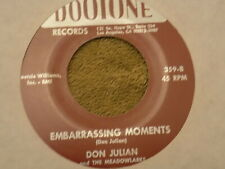 """DON JULIAN & THE MEADOWLARKS Heaven & Paradise / Embarrassing Moments7"""" 45 re EX"""
