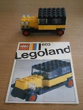 Vintage Legoland Lego Auto  ref  603  ***   Instructions ** 1970
