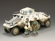 King and Country BBG043 WWII  Battle of Bulge Polizei ADGZ Armoured Car (Winter)