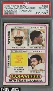 1980 Topps Football #282 Tampa Bay Buccaneers Checklist PSA 6 EX-MT