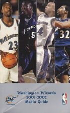 2001-02 WASHINGTON WIZARDS NBA BASKETBALL MEDIA GUIDE WITH MICHAEL JORDAN