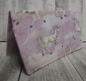 CHECKBOOK Cover Unicorn Horse Fabric Wallet Debit Registry Document Holder