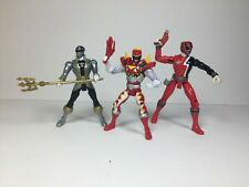 Power Rangers - Lot of 3 - Super Mega Force - Dino Charge - SPD - Silver/Red x 2