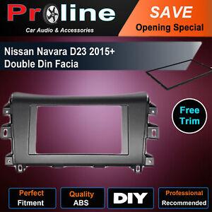 For NISSAN NAVARA D23 NP300 2015+ Stereo Surround Double Din Fascia Facia Panel