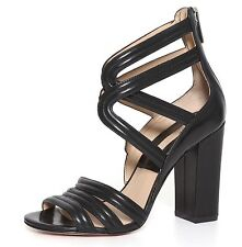 Michael Kors Preston Strappy Black Leather Sandals Women Size US 7 EUR 37 1123