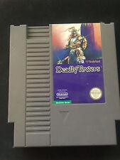 Deadly Towers - NES Nintendo (1987) game cartridge (Broderbund) NES-DE-USA