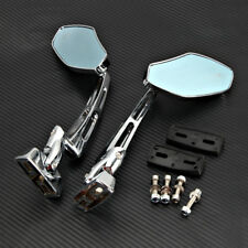Chrome Racing Mirrors Suzuki GSXR 600 750 1000 Hayabusa GSX-R Street Sport Bike