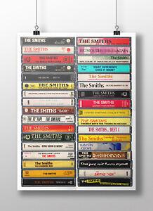 The Smiths Poster: Original Cassette Print, Fan, Gift, Art, Albums, Singles