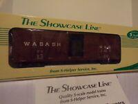SHOWCASE LINE S GAUGE S-HELPER #00147  SS Xm WABASH  SHEATHED BOXCAR
