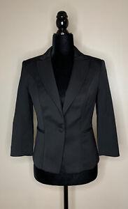White House Black Market Womens Spencer Formal Tuxedo Jacket 4  Black NEW $150