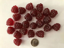 Artificial Small Raspberry, Bag of 24 Decorative Fake Fruit Berries