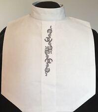 English Hunt Seat Ratcatcher White Embroidered Bib Dickie