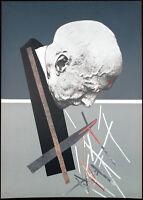 """Hombre perfil"", 1975. Grosse Lithographie Dario VILLALBA (*1939 E) handsigniert"