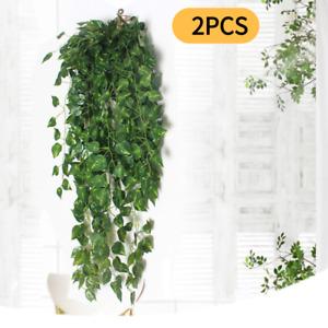 2Pcs Artificial Fake Flower Vine Hanging Garland Plant Home Outdoor Garden Decor