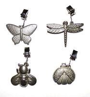 4x Tischdeckengewicht / Insekten / Tischgewicht / Tiere / Metall / Wogati